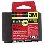 3M 9250NA-2 Heavy Duty Power Sanding Belts, 2.5-Inch x 16-Inch, Fine Grit, 2-pack