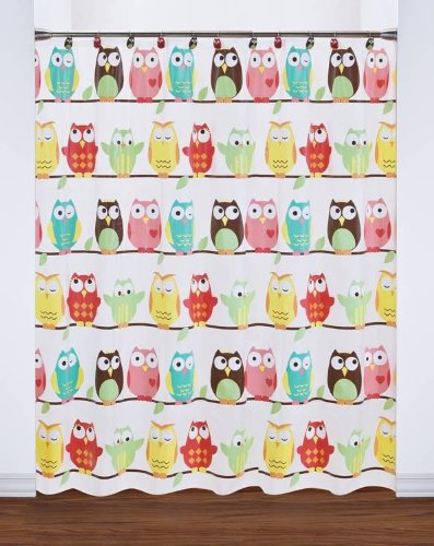 new owl peva shower curtain