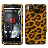 Leopard Skin Snap on Cover Protector Case for Motorola Droid X X2 Milestone