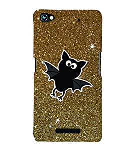 Bat Stars Cute Fashion 3D Hard Polycarbonate Designer Back Case Cover for Micromax Canvas Hue 2 A316