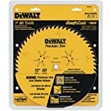 DEWALT DW3215PT 10-Inch 60 Tooth ATB Crosscutting Saw Blade with 5/8-Inch Arbor and Tough Coat Finish (Tamaño: 10