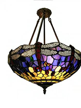 tiffany style hanging dragonfly lamp table lamps. Black Bedroom Furniture Sets. Home Design Ideas