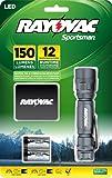 Rayovac Sportsman 150 Lumen 2CR123A LED Flashlight with Batteries & Holster (SP123A-B)