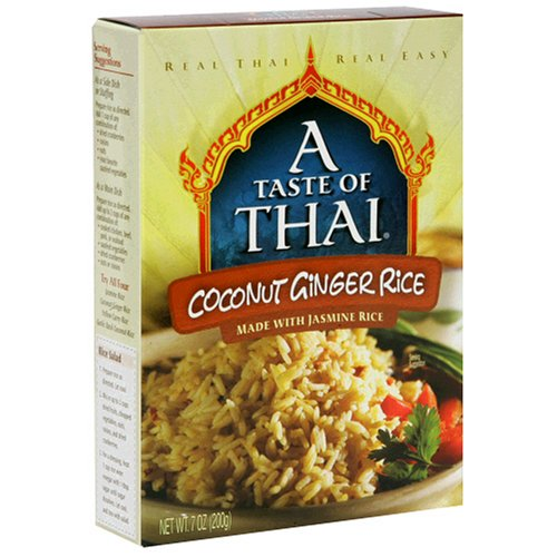 A Taste of Thai Coconut Ginger Jasmine Rice, 7-Ounce Boxes (Pack of 6) by A Taste of Thai