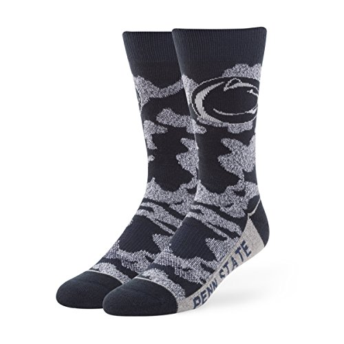 NCAA Penn State Nittany Lions Men's '47 Bayonet Casual Dress Crew Socks, Navy, Large, 1-Pack