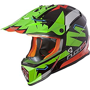 LS2 Helmets Fast Mini Explosive Youth Off-Road MX Motorcycle Helmet (Green, Large) by LS2 Helmets