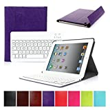 CoastCloud PU Leather Front + Back Case Bluetooth V3 Wireless UK Layout Keyboard For Apple iPad 2/3/4 - Ultra Slim Design Premium Quality Bluetooth Keyboard