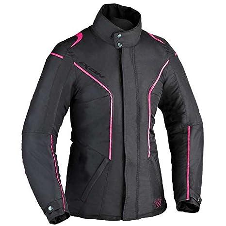 Veste moto femme Ixon COMTESSE - 4XL - Noir/Blanc