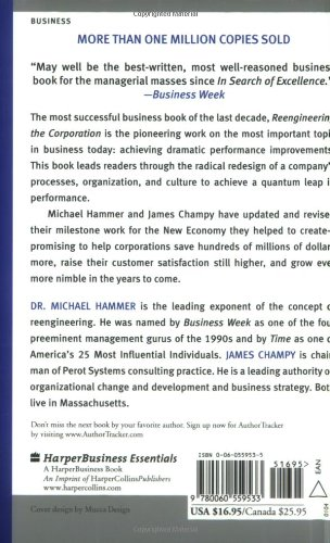 reengineering the corporation a manifesto for Reengineering the corporation: a manifesto for business revolution michael hammer, author, james a champy, joint author harperbusiness $25 (223p) isbn 978-0-88730.
