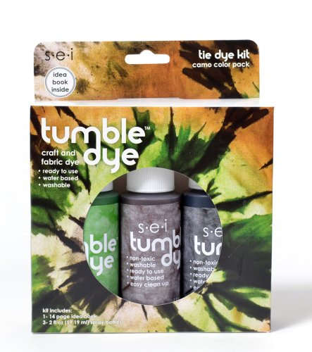 SEI Tumble-Dye 3-Pack Camo Kit with Tie-Dye Idea Book - 1