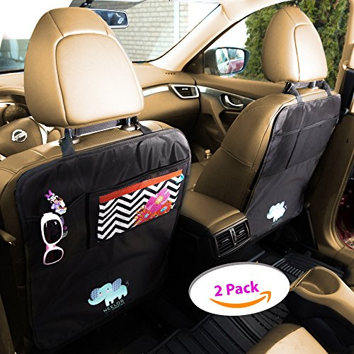 deluxe car seat protector and back cover kids kick mat with organizer universal fit backseat covers must