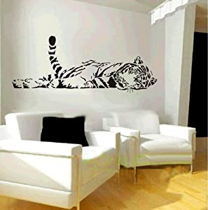 African Leopard Long Tail Wall Decal Sticker Living Room Decor Vinyl