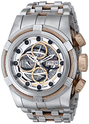 Invicta Men's 14308 Bolt Analog Display Swiss Automatic Silver Watch