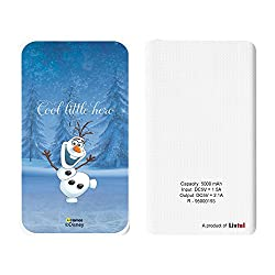 Livtel x Hamee Disney Princess Licensed Frozen 5000 mAh PowerBank with LED indicators and Reversible Micro-USB cable (Olaf / Cool)