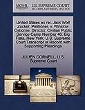 United States Ex Rel. Jack Wolf Zucker, ...