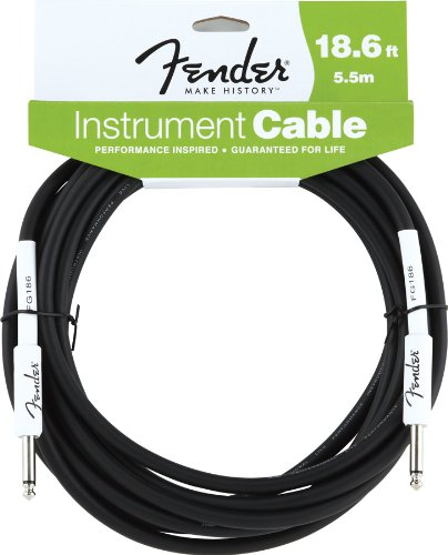 Fender Accessories 099-0820-007 Performance Series Cables 18.6 Feet Instrument Cable - Black