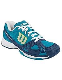 Women`s Rush Evo Tennis Shoes Light Ultramarine and Pacific Teal