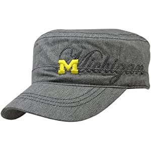 NCAA Michigan Wolverines Women's Military Hat, Grey, One Size