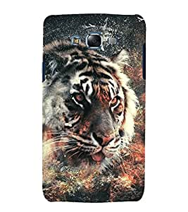 printtech Nature Animal Tiger Abstract Back Case Cover for Samsung Galaxy J1::Samsung Galaxy J1 J100F