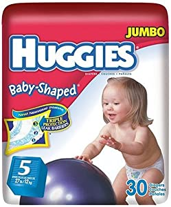 Huggies Baby-Shaped Fit Diapers with Gigglastic Waistband, Size 5, 30-count