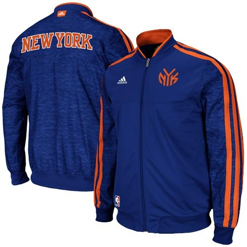 NBA New York Knicks On-Court Warm-Up Jacket Home Weekday, Large, Blue adidas Jackets autotags B0089NWX46