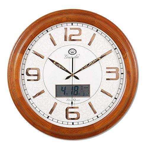 Tuba Mute European Ash Wood Wall Clock The Living Room Fashion Quartz Wall Charts When They