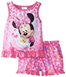 Komar Kids Girls 2-6X Toddler Minnie 2Pc Pajama Short Set