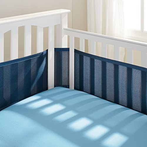 BreathableBaby Breathable Mesh Crib Liner, True Navy (Discontinued by Manufacturer)