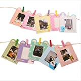 [Fujifilm Instax Photo Frame Series] WOODMIN 3- inch Colorful Wall Decor Hanging Combination Frame for Instax mini / Pringo 231 /SP 1 / Polaroid PIC-300P / Polaroid Z2300 Films