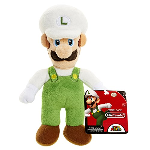 World of Nintendo 88791 Fire Luigi Mario Bros U Plush - 1