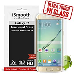 Samsung Galaxy S7 Tempered Glass Screen Protector, Protects Your Phone From Drops And Scratches - Max Clarity & Touch Accuracy