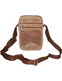 Style98 Cheeku Premium Quality Genuine Leather Travelller UniSex Sling Bag - Hunter Leather