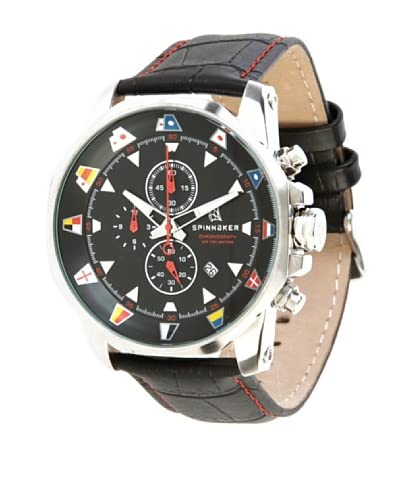Spinnaker Reloj de cuarzo Flaggy Negro 45 mm