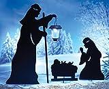 Nativity Christmas Shadow Garden Stakes & Lantern - Set Of 3