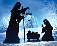 Nativity Shadow Stakes & Lantern – Set Of 3