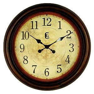 """Geneva 24"""" Wood Wall Clock"""