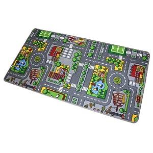 Alfombra circuito juguetes y juegos - Alfombra circuito coches ...