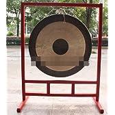 本場中国銅鑼 銅製プロ仕様 特大直径80cm 台つき バチハンマーつき 3点セット 楽器