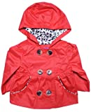 Pink Platinum Baby Girls 12M-24M Red & Leopard Print Trenchcoat Jacket24M