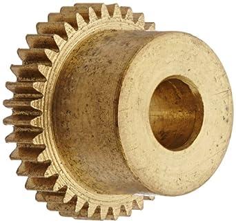 Boston Gear Spur Gear, Brass, Inch, 6 Pitch