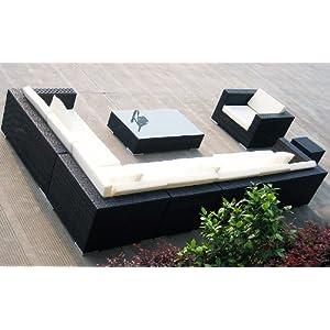 best buying lounge rattan baidani rattan lounge garnitur blizzard 25 teilig schwarz beste angebot. Black Bedroom Furniture Sets. Home Design Ideas