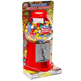 Wall Mounted 10.5-Inch Gumball Machine Dispenser with Gumballs (Color: Red, Tamaño: 15 cm)