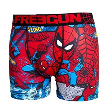 FREEGUN Boxer homme SPIDER MAN - Small, Multicolore