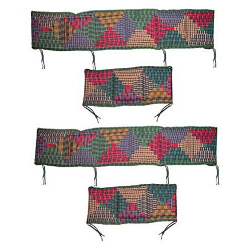 Patch Magic Tartan Log Cabin Bumper Cover - 1