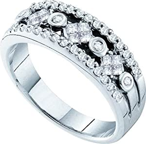Women's White Diamond 0.48 Carat 14K White Gold Wedding Ring - Lesbian Wedding