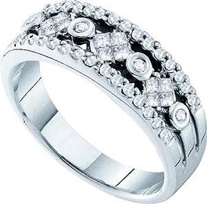 Women's White Diamond 0.48 Carat 14K White Gold Wedding Ring - Lesbian Wedding