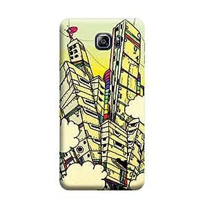 Desicase Samsung Note 5 Graphic Building 3D Matte Finishing Printed Designer Hard Back Case Cover (Multicolor)