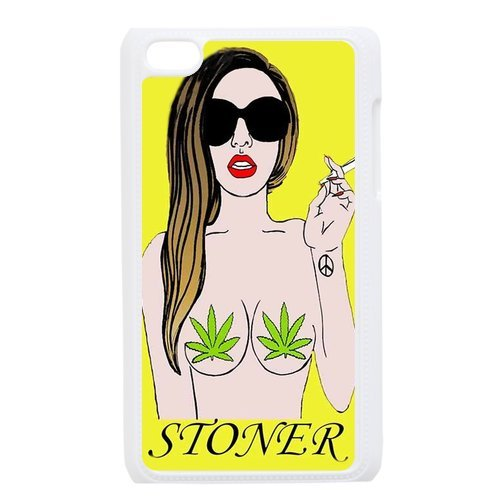 Generic Mobile Phone Cases Cover For Apple Ipod Touch 4 Case Country American Flag Marijuana Cannabis Weed Hemp Leaf Smoker Design Custom Made Hard Snap On Cell Phones Shell Protect Skin