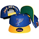 St. Louis Blues Blue/Yellow Two Tone Adjustable Plastic Snap Back Hat/Cap