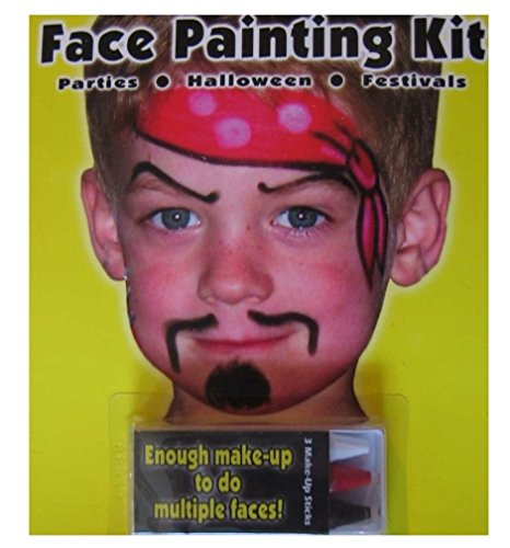 4 Pack Pirate and Star Face Painting Kit (2 Pirates/2 Stars) - 1